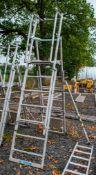 Zarges aluminium adjustable step ladder/podium A838307