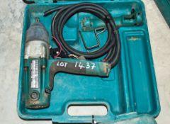 Makita TW0250 110v impact driver c/w carry case ** In disrepair **
