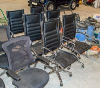 6- ajustable leather office chairs