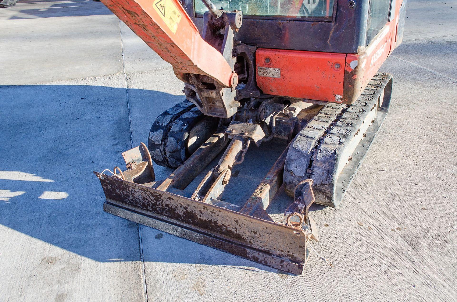 Kubota KX016-4 1.5 tonne rubber tracked mini excavator Year: 2015 S/N: 58688 Recorded Hours: 1736 - Image 11 of 19