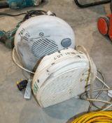 2- 240v fan heaters 18161000