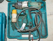Makita TW0250 110v impact driver c/w carry case 15120684