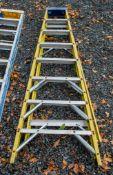 8 tread aluminium step ladder A776402