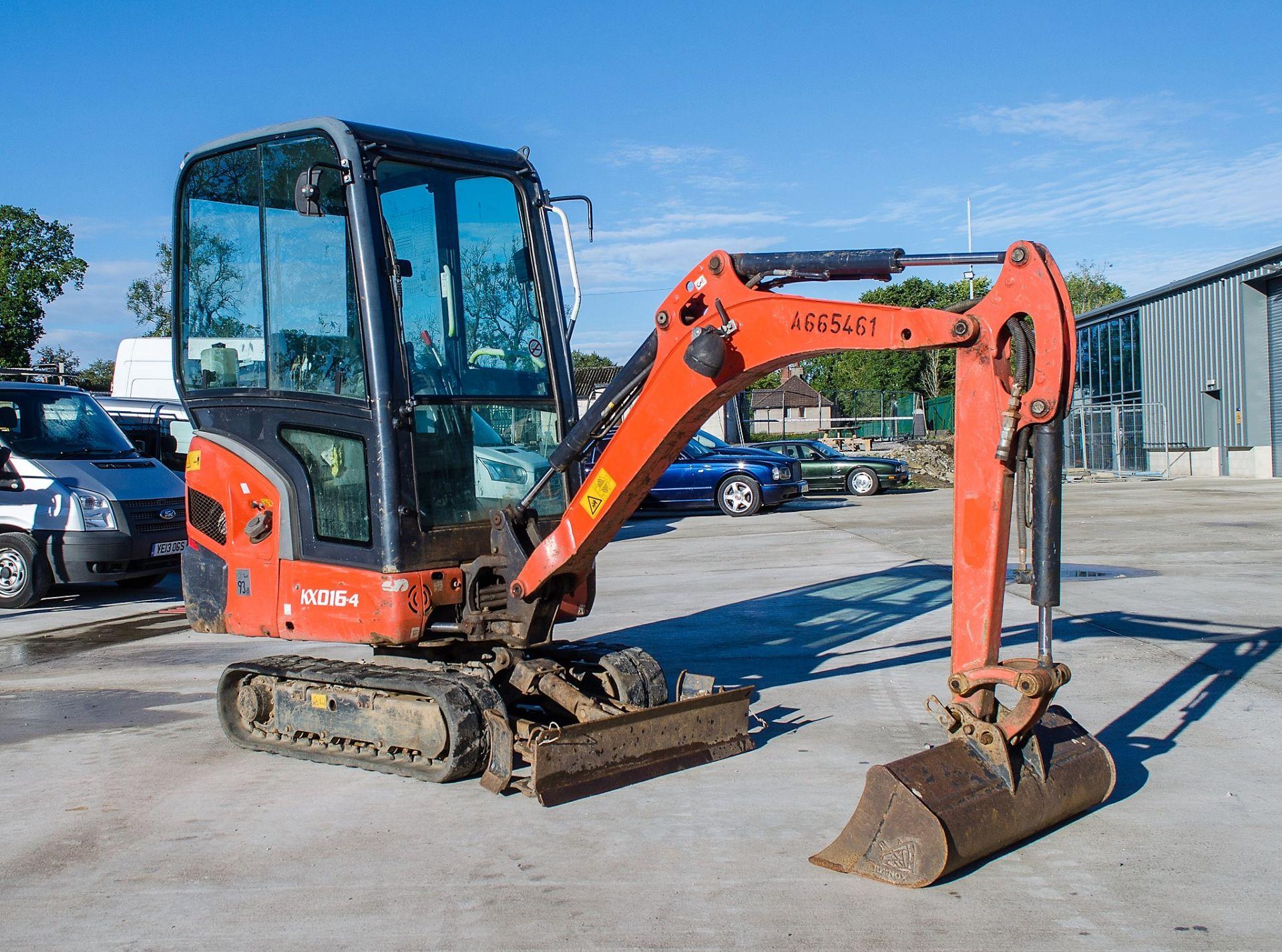 Kubota KX016-4 1.5 tonne rubber tracked mini excavator Year: 2015 S/N: 58688 Recorded Hours: 1736 - Image 2 of 19