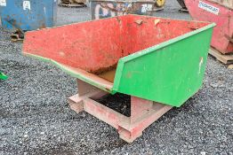 Steel fork lift tipping skip A1078005