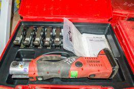 Novopress ACO202 15mm to 35mm cordless pipe crimping/press machine c/w 5 - press jaws, battery &