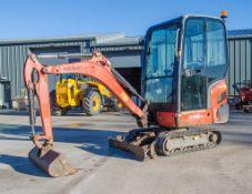 Kubota KX016-4 1.5 tonne rubber tracked mini excavator Year: 2015 S/N: 58688 Recorded Hours: 1736