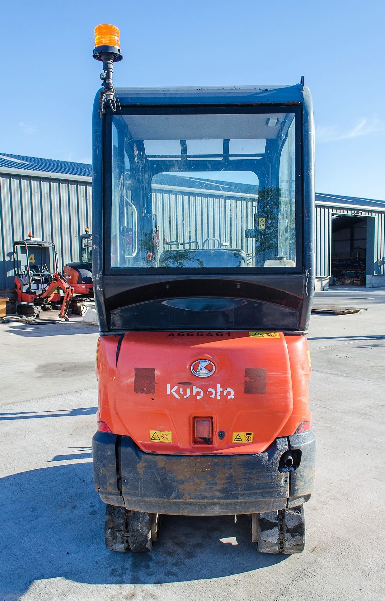 Kubota KX016-4 1.5 tonne rubber tracked mini excavator Year: 2015 S/N: 58688 Recorded Hours: 1736 - Image 6 of 19