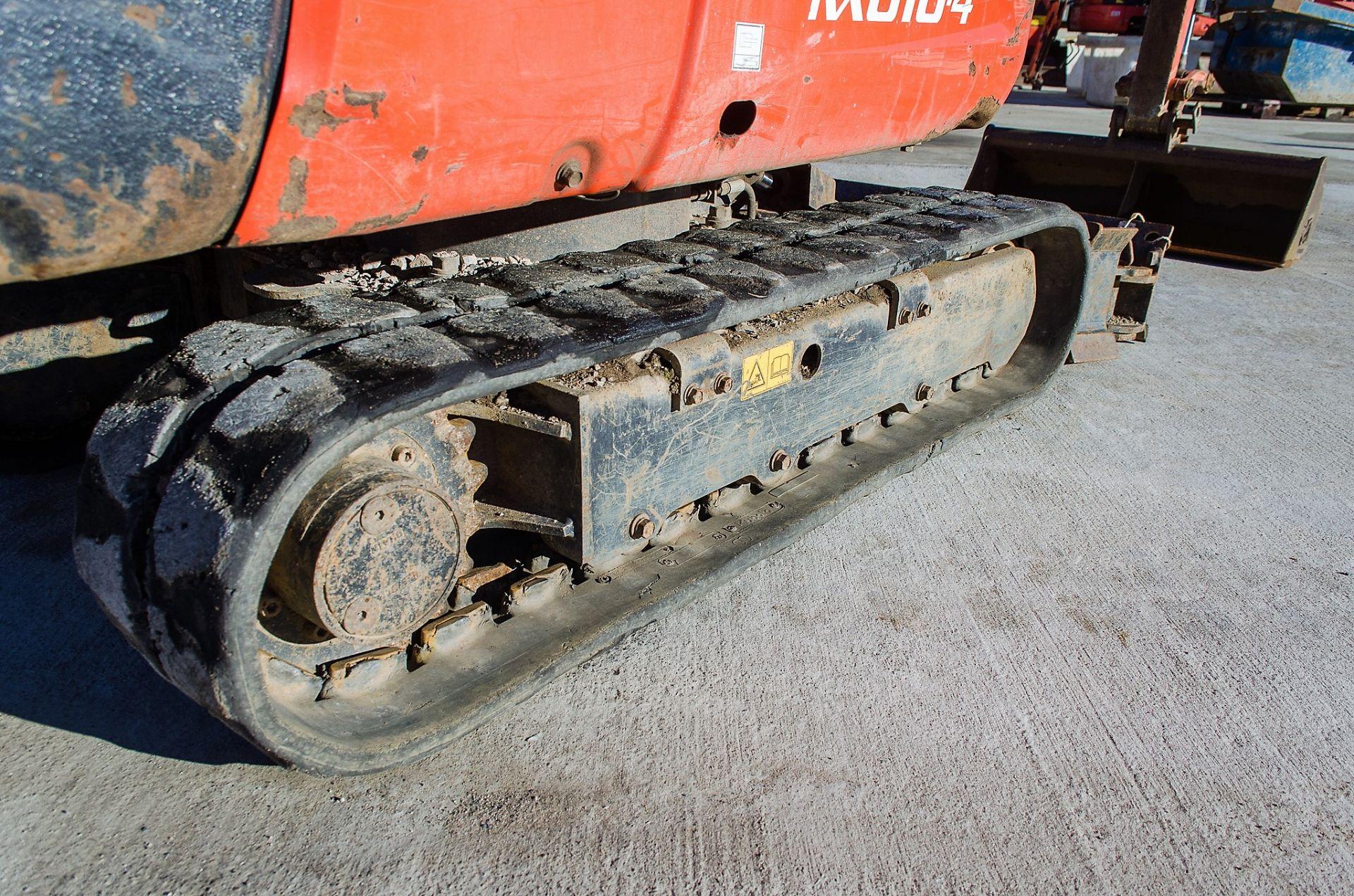 Kubota KX016-4 1.5 tonne rubber tracked mini excavator Year: 2015 S/N: 58688 Recorded Hours: 1736 - Image 10 of 19