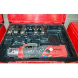 Novopress ACO202 15mm to 35mm cordless pipe crimping/press machine c/w 5 - press jaws & carry case