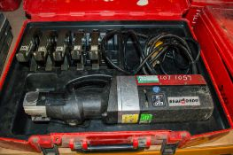 Novopress Eco301 110v press tool c/w 5 pressing jaws and carry case PTH636