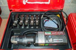 Novopress Eco301 110v press tool c/w 5 pressing jaws and carry case PTH605