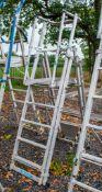 Zarges aluminium adjustable step ladder/podium A777936