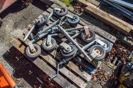 Pallet of 8 miscellaneous jockey wheels