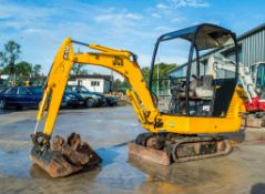 JCB 801.6 1.5 tonne rubber tracked mini excavator S/N: 7491 Recorded Hours: Not displayed (Clock