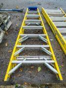 8 tread glass fibre framed step ladder A740672
