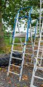 Aluminium adjustable step ladder/podium A745755