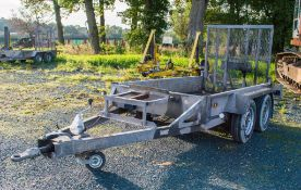 Indespension AD2000 8 ft x 4 ft tandem axle plant trailer A671151