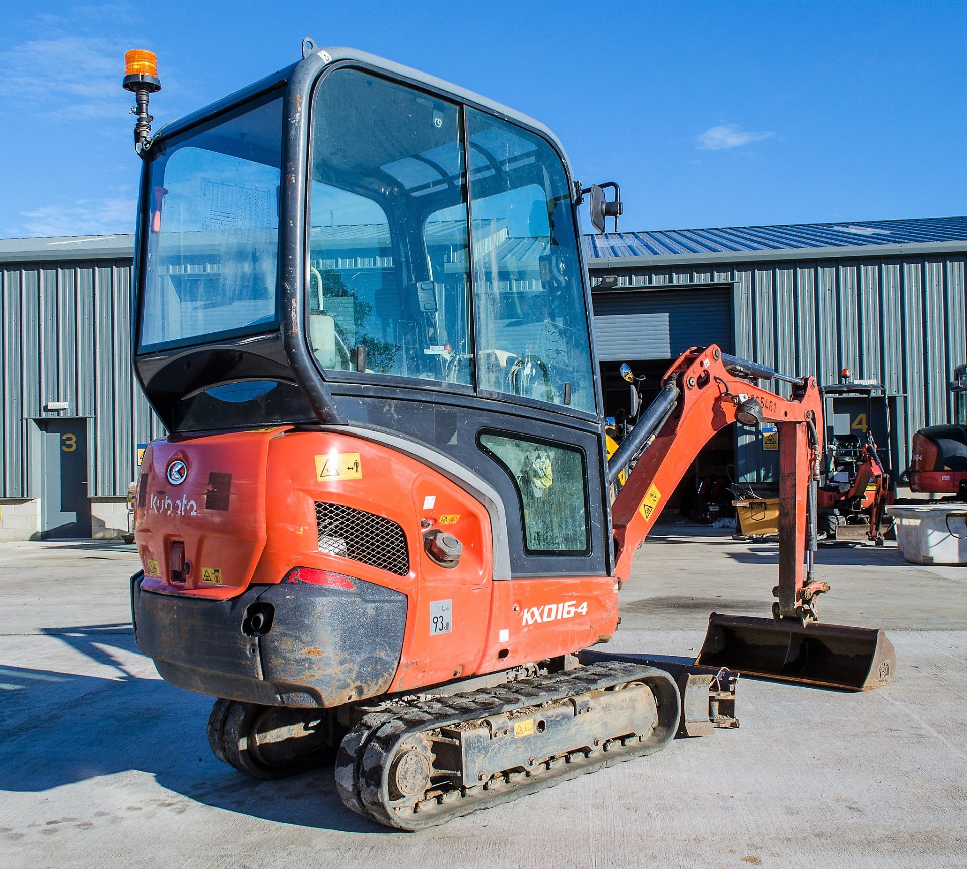 Kubota KX016-4 1.5 tonne rubber tracked mini excavator Year: 2015 S/N: 58688 Recorded Hours: 1736 - Image 4 of 19