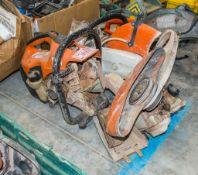 2 - Stihl TS410 petrol driven cut off saws ** Both in disrepair **