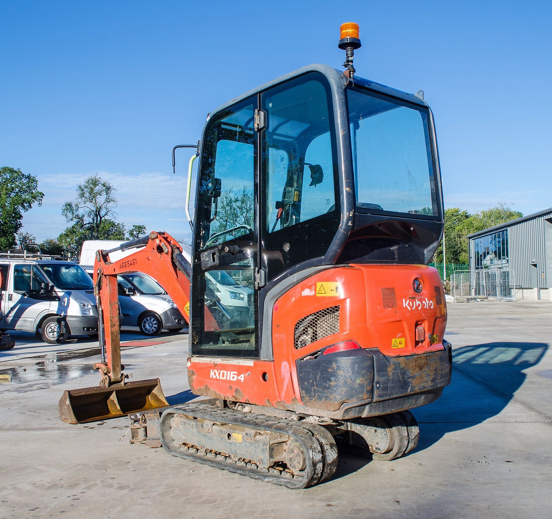 Kubota KX016-4 1.5 tonne rubber tracked mini excavator Year: 2015 S/N: 58688 Recorded Hours: 1736 - Image 3 of 19