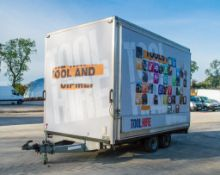 Bank Farm Trailers 12ft x 7ft tandem axle exhibition trailer c/w aluminium steps