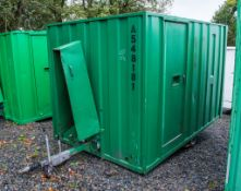 Ground Hog 12' by 8' fast tow self lowering welfare unit  c/w canteen area, toilet room, generator