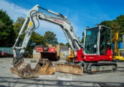 Takeuchi TB260 6 tonne rubber tracked midi excavator Year: 2018 S/N: 12600319 Recorded Hours:
