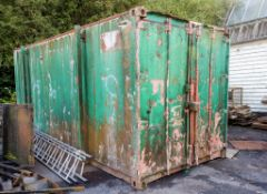 20ft x 8ft steel shipping container