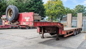 Faymonville STN 4AU 65 tonne 4 axle extendable step frame low loader trailer Year: 2008 S/N: