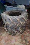 2 - 405/70-20 dumper tyres