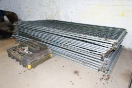 20 - Heras fence panels c/w 12 rubber feet & clips