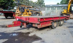Chieftain 19 tonne tandem axle beaver tail/cheese wedge draw bar trailer Year: 2006 S/N: 1071 Reg