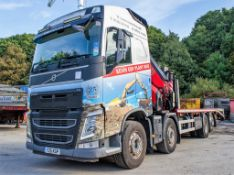 Vovlo FH 12 460 8 x 2 beaver tail plant crane draw bar lorry Reg No: Y25 KGP (number plate to be