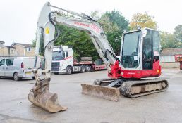 Takeuchi TB260 6 tonne rubber tracked midi excavator Year: 2015 S/N: 126000650 Recorded Hours: 2649