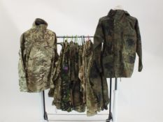 British Army, Royal Navy and German military camouflage jackets