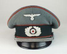 German Third Reich Army Artillery Officer's visor cap