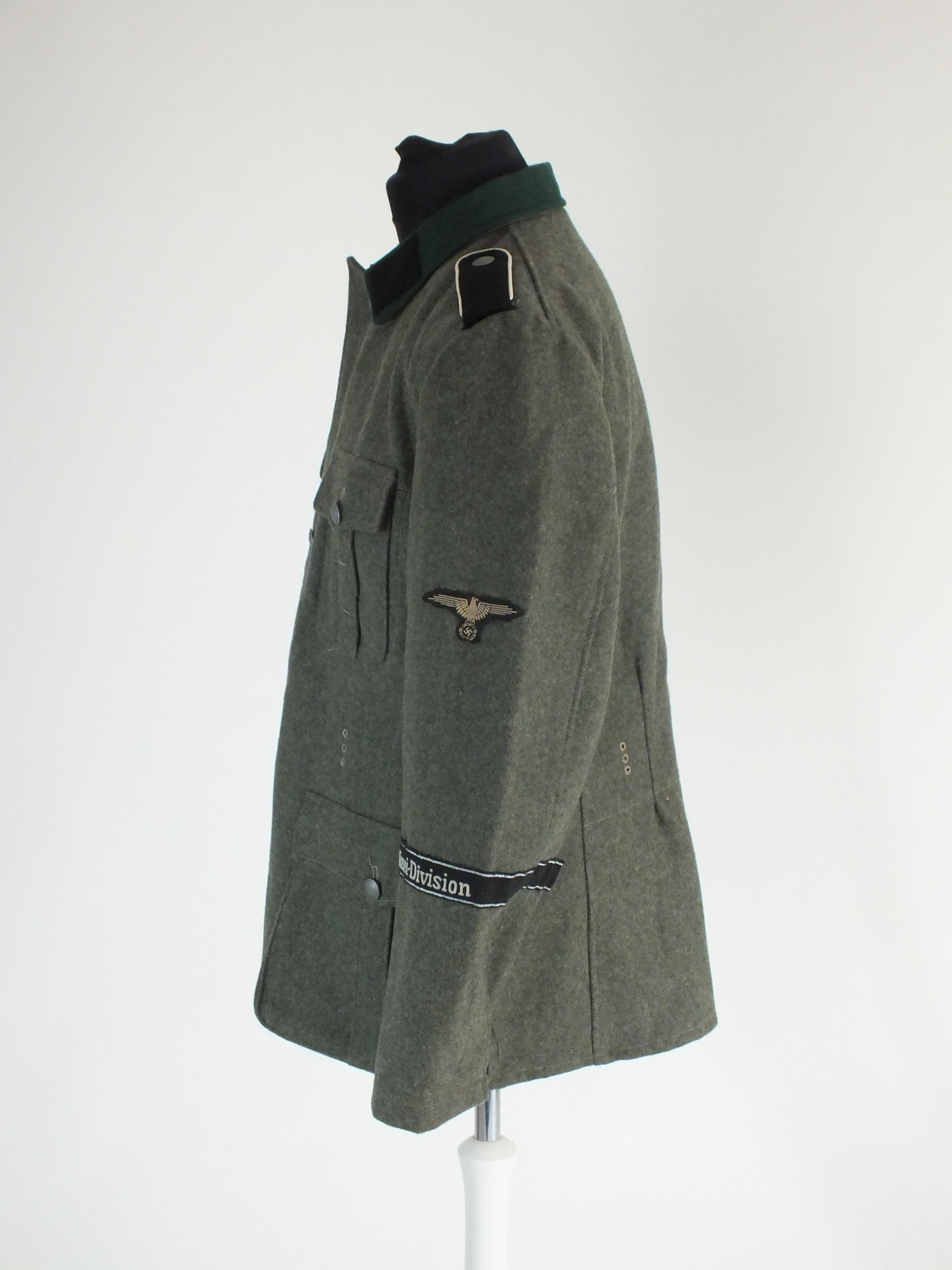 A good re-enactor or film set prop uniform for a German SS Polizei Division Mann, the tunic with - Image 2 of 5