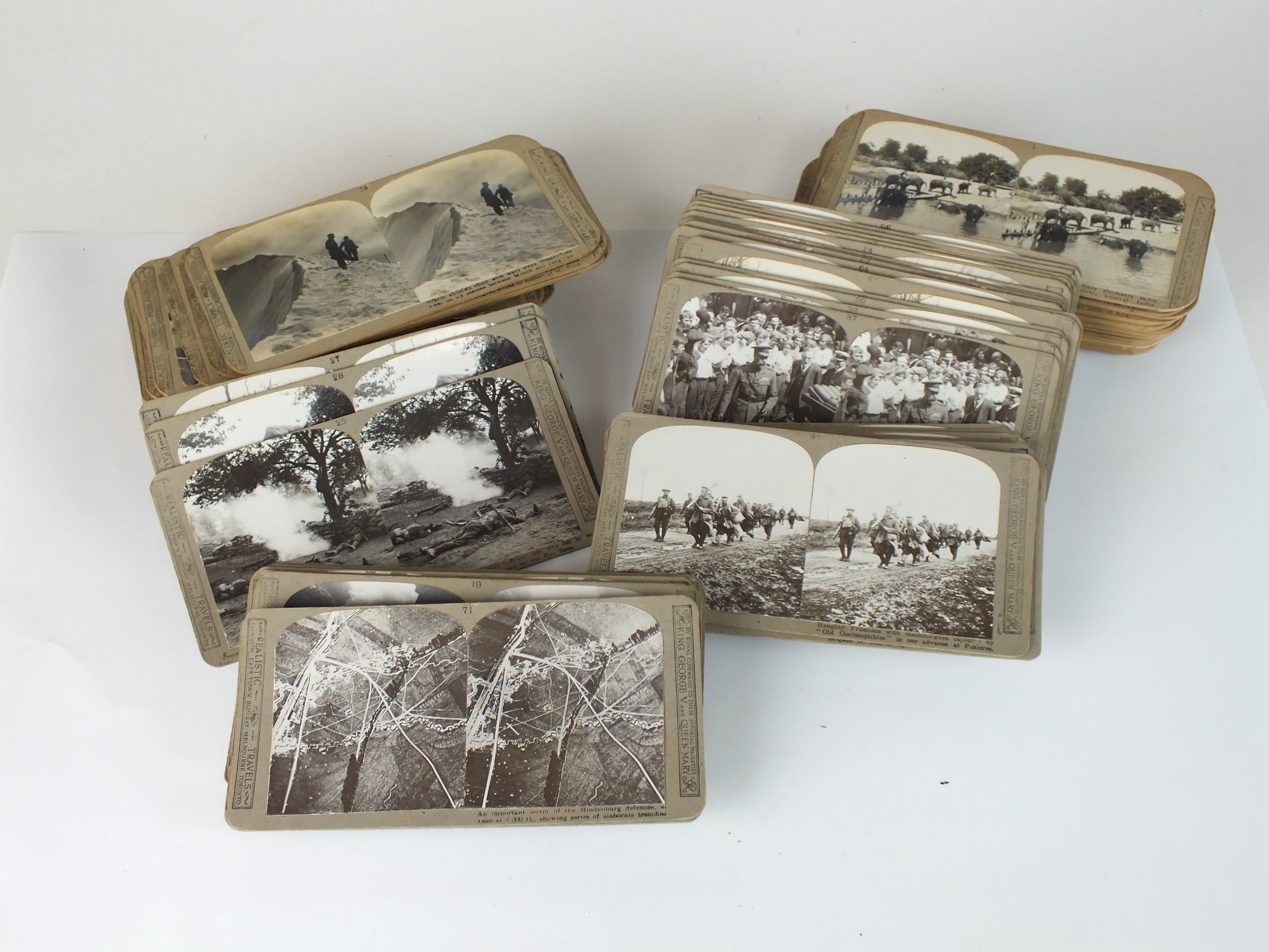 Real Photographic stereoscope cards, including military