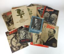 Collection of WW2 Third Reich magazines and books
