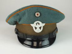A German Third Reich Feldgendarmerie NCO's visor cap