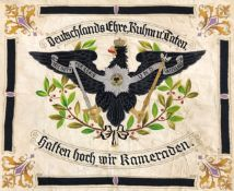 Prussian Veteran's Association banner, Order of the Black Eagle early 20th century the rectangular