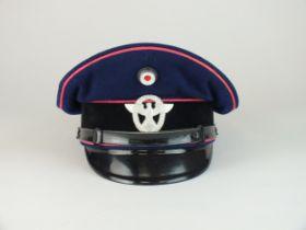 German Third Reich Fire Police Official's visor cap
