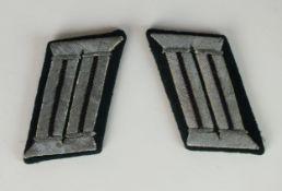 Pair of German Army Engineer Officer's collar tabs