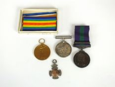 """A pair of WW1 medals awarded to """"M2 - 137538 Pte. C. Price, A.S.C, comprising War and Victory medal,"""
