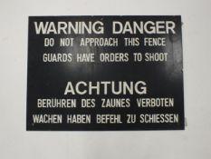 Spandau Prison sign