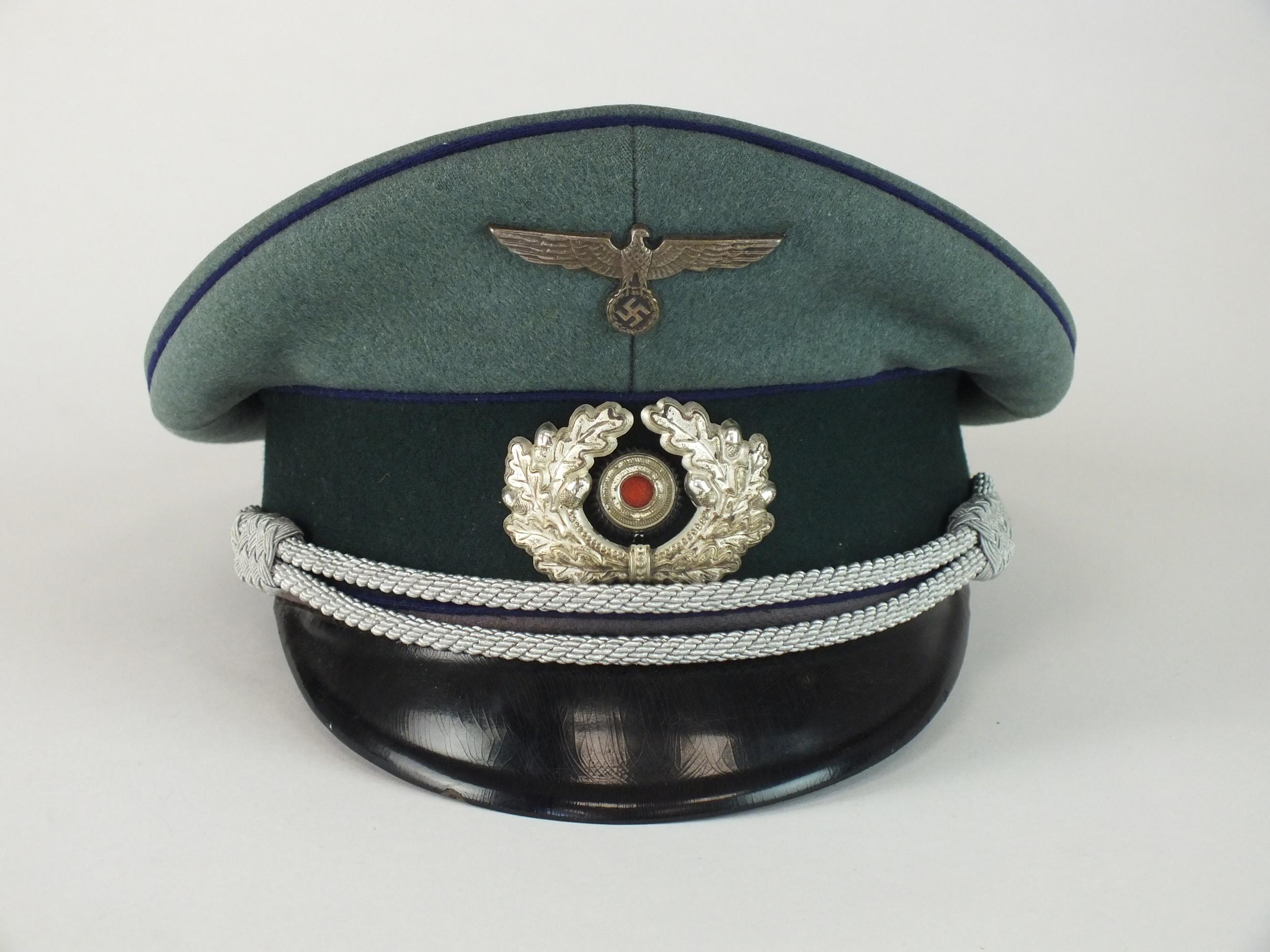 German Third Reich Army Medical Officer's visor