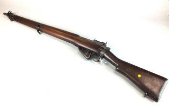 A Lee Enfield No 4 mark I*.303 rifle, circa 1942, converted to a .410 shotgun