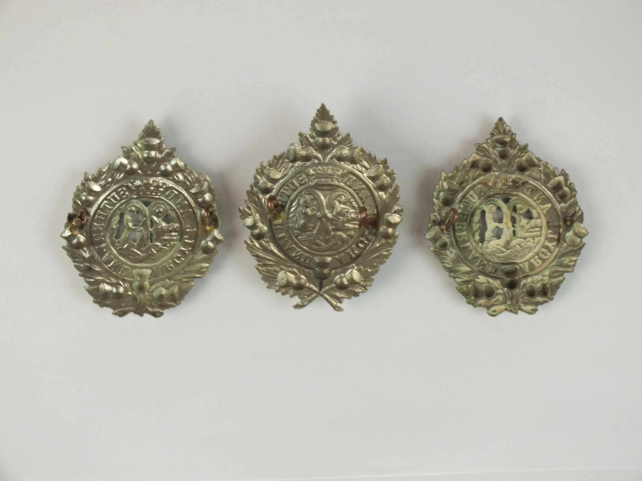 Three Argyll and Sutherland glengarry badges, die-stamped white metal (3) - Image 2 of 2