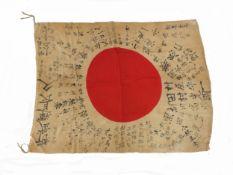 A Second World War Japanese Good Luck Flag